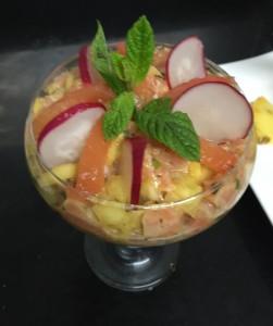 tartare saumon ananas